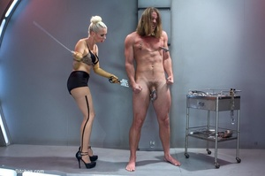 Lady in yellow latex gloves manhandles a - XXX Dessert - Picture 8