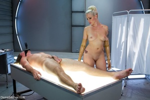 Lady in yellow latex gloves manhandles a - XXX Dessert - Picture 13