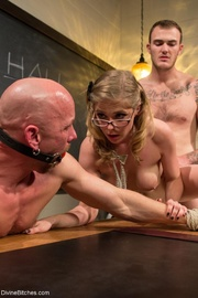 hot blonde doll detention