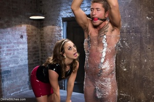 Being wrapped in plastic and having his  - XXX Dessert - Picture 5