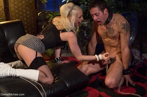 Babe in white boots and black fishnets f - XXX Dessert - Picture 7