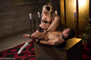 Babe in white boots and black fishnets f - XXX Dessert - Picture 12
