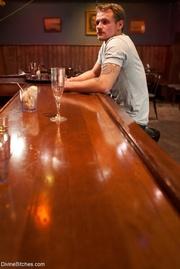 gorgeous blonde bartender shocks
