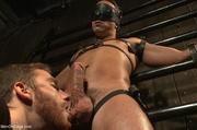 blindfolded hunk collar gets