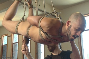Bald dude gets tied up and drilled by hi - XXX Dessert - Picture 3