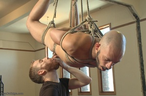 Bald dude gets tied up and drilled by hi - XXX Dessert - Picture 5