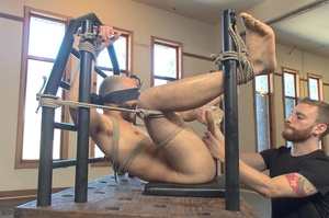 Bald dude gets tied up and drilled by hi - XXX Dessert - Picture 10