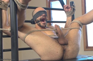 Bald dude gets tied up and drilled by hi - XXX Dessert - Picture 11