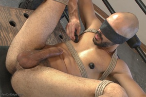 Bald dude gets tied up and drilled by hi - XXX Dessert - Picture 14