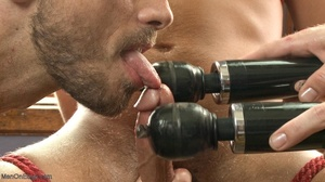 Inked lad gagged and tied up gets his co - XXX Dessert - Picture 11