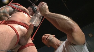 Inked dude gagged, blindfolded and tied  - XXX Dessert - Picture 5