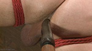 Inked dude gagged, blindfolded and tied  - XXX Dessert - Picture 7
