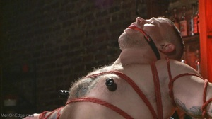Inked dude gagged, blindfolded and tied  - XXX Dessert - Picture 10