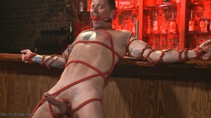 Inked dude gagged, blindfolded and tied  - XXX Dessert - Picture 18