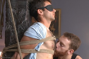 Red bearded master teasing blindfolded a - XXX Dessert - Picture 4