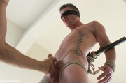 tattooed stud gets high