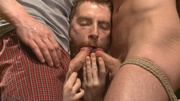 horny bearded hunk gets