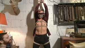 Gagged, hogtied and suspended guy gets h - XXX Dessert - Picture 3