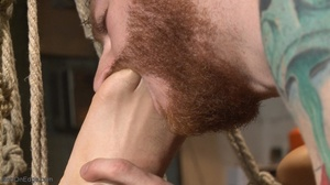 Gagged, hogtied and suspended guy gets h - XXX Dessert - Picture 13
