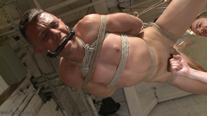Gagged, hogtied and suspended guy gets h - XXX Dessert - Picture 15