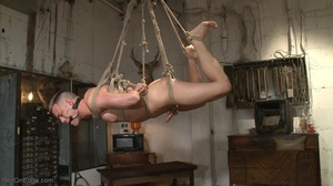 Gagged, hogtied and suspended guy gets h - XXX Dessert - Picture 17