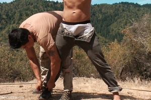 Fair-haired naked guy in blindfold gets  - XXX Dessert - Picture 3