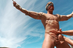 Fair-haired naked guy in blindfold gets  - XXX Dessert - Picture 4