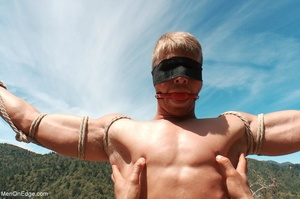 Fair-haired naked guy in blindfold gets  - XXX Dessert - Picture 5