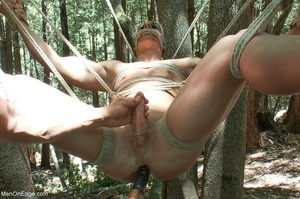 Fair-haired naked guy in blindfold gets  - XXX Dessert - Picture 13