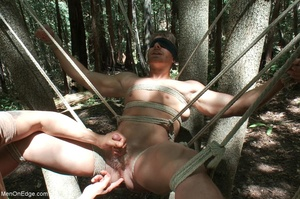 Fair-haired naked guy in blindfold gets  - XXX Dessert - Picture 15