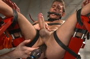 fair-haired stud belt bondage