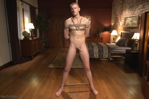 Bound and suspended stud gets his cock s - XXX Dessert - Picture 6