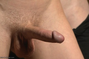 Bound and suspended stud gets his cock s - XXX Dessert - Picture 12