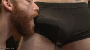 Red bearded lad gets high sucking bound  - XXX Dessert - Picture 2