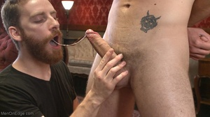 Red bearded lad gets high sucking bound  - XXX Dessert - Picture 6