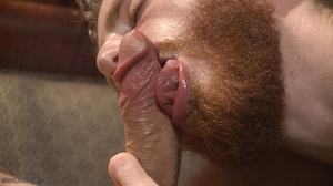 Red bearded lad gets high sucking bound  - XXX Dessert - Picture 12