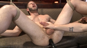 Red bearded lad gets high sucking bound  - XXX Dessert - Picture 13