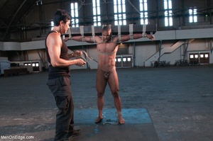 Black lad in blindfold gets flogged whil - XXX Dessert - Picture 12