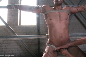 Black lad in blindfold gets flogged whil - XXX Dessert - Picture 15