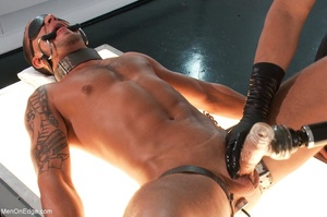 Tattooed stud gets his cock jerk off and - XXX Dessert - Picture 13