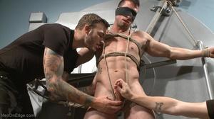 Office clerk in blue shirt gets tied up  - XXX Dessert - Picture 7