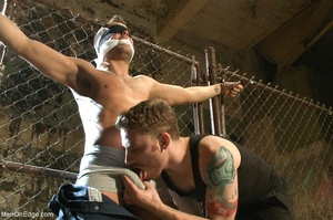 Good looking gay dude gets tied up and u - XXX Dessert - Picture 3