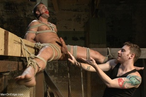 Good looking gay dude gets tied up and u - XXX Dessert - Picture 12