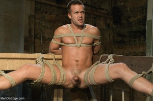 Good looking gay dude gets tied up and u - XXX Dessert - Picture 14