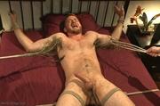 handsome dude gets tied
