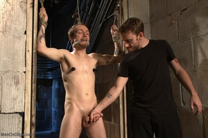Teenage gay gets tied up and used by two - XXX Dessert - Picture 5