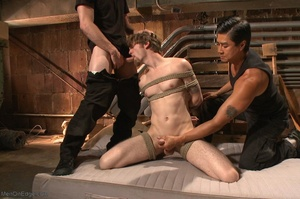 Teenage gay gets tied up and used by two - XXX Dessert - Picture 12