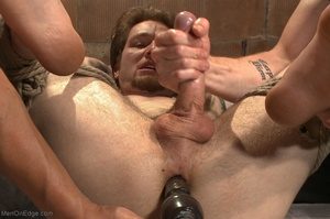 Teenage gay gets tied up and used by two - XXX Dessert - Picture 14