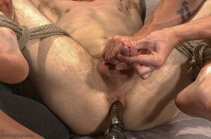 Teenage gay gets tied up and used by two - XXX Dessert - Picture 15
