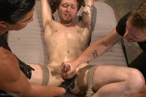 Teenage gay gets tied up and used by two - XXX Dessert - Picture 16